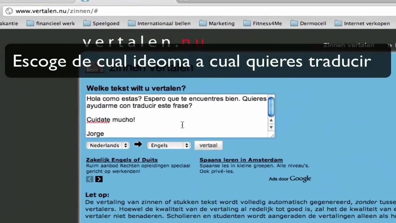 SF vertalen.nu/zinnen/# - YouTube