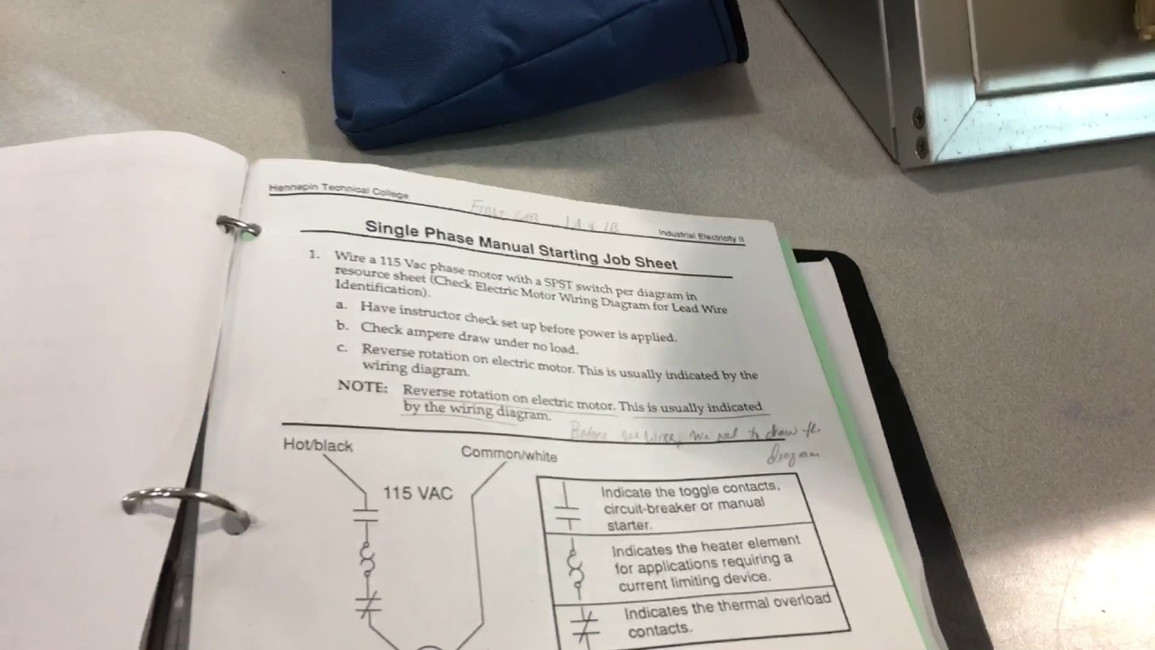 Industrial Lab 1a 1b Dual Voltage Motor Single Phase Youtube Spst Wiring Diagram Mbservicesandexporting Industrialelectricity Manualstarterswitch