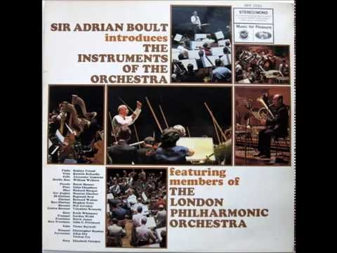 Sir Adrian Boult introduces the instruments of the orchestra