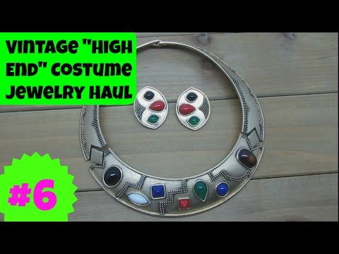 Vintage Costume Jewelry Haul 6 High End Collection Ep 01 YouTube