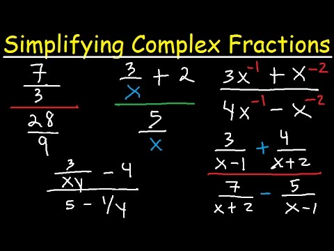 Algebra - Simplifying Complex Fractions