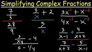 Algebra - Simplifying Comṗlex Fractions