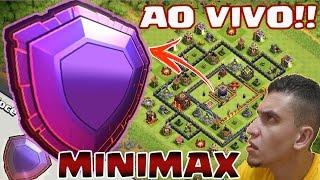 MINIMAX [QUASE] SEM DEFESAS CHEGANDO AO VIVO NA LIGA LENDÁRIA!!! CLASH OF CLANS