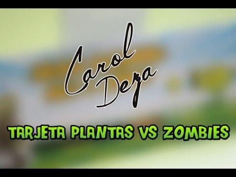 Como Hacer Una Tarjeta Infantil De Plantas Vs Zombies El Taller De Carol Deza