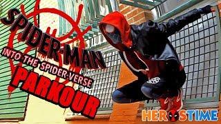 SPIDERMAN PARKOUR: Into The Spider Verse!