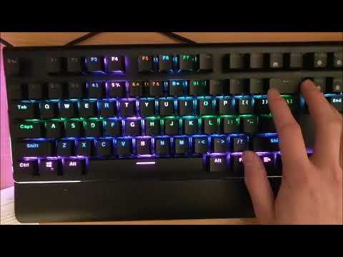 Rosewill K85 RGB Backlighting and Typing Test