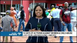 President Zuma officially launches the 16 days of activism campaign