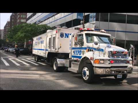 COMPILATION OF NYPD POLICE UNITS RESPONDING IN VARIOUS NEIGHBORHOODS OF NEW YORK CITY.  25