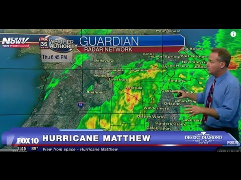 FNN: Hurricane Matthew WATCH - Live Images from Florida, CATEGORY 4 HURRICANE