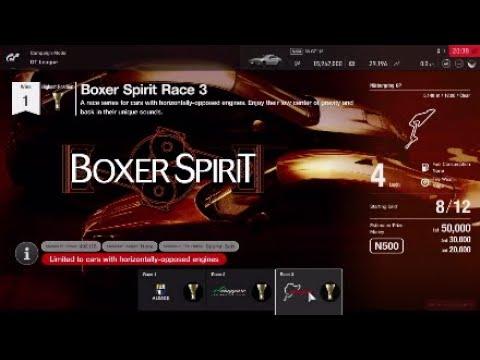 Gran Turismo Sport GT League amateur Boxer Spirit