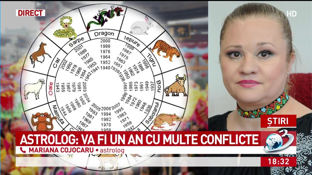 HOROSCOP, cu Mariana Cojocaru. Ce ne aduce zodiacul chinezesc anul acesta. Vor exista conflicte atâ