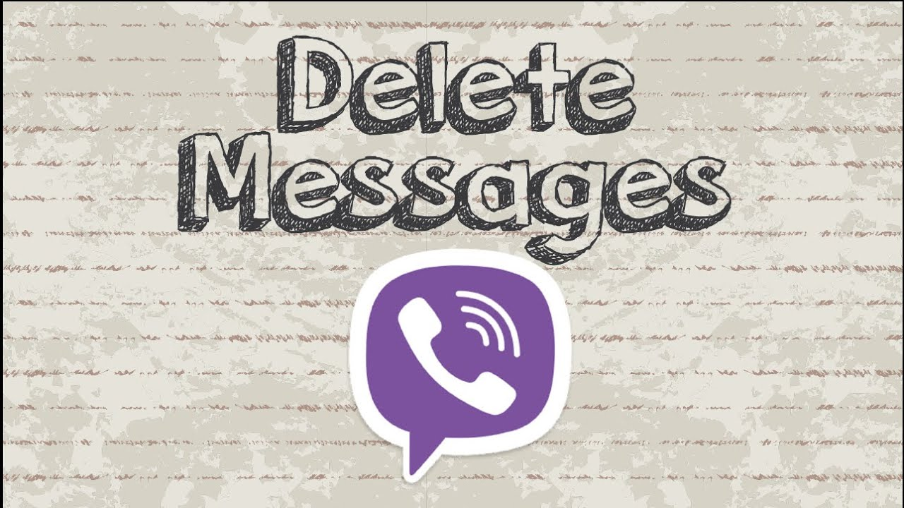 How to delete Viber messages