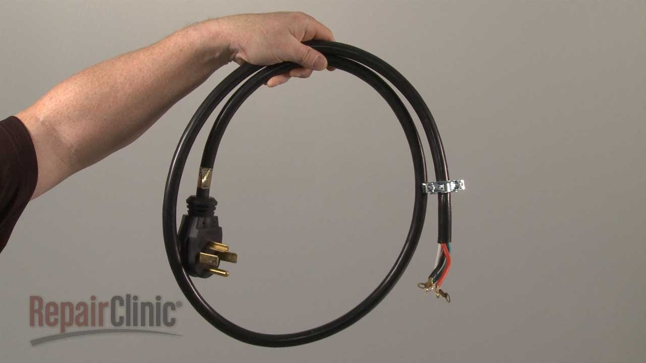 hight resolution of electric dryer power cord 4 wire replacement 5305510955 youtube haier dryer wiring diagram