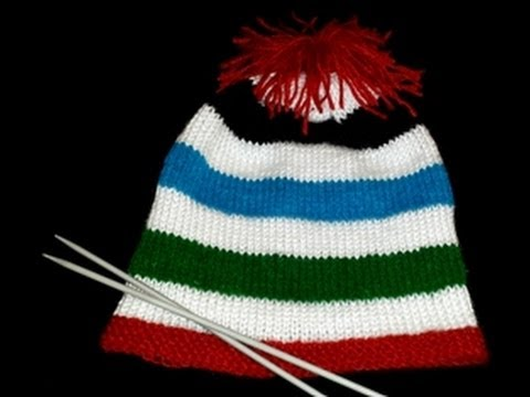 cdc2e77cbcc Multi Colored Pom Pom Hat in Urdu Hindi by Azra Salim - YouTube