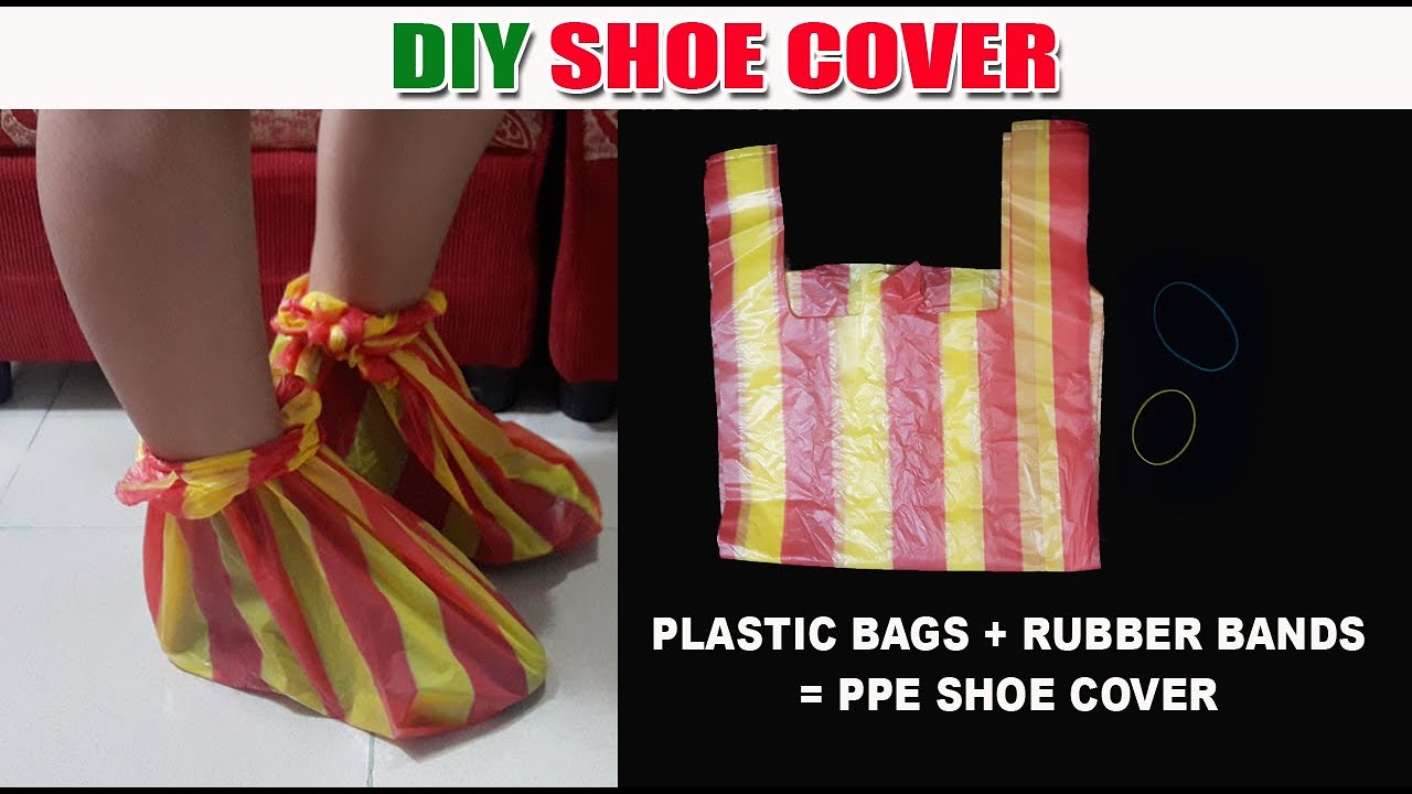 DIY Shoe Cover Made of Plastic Bags