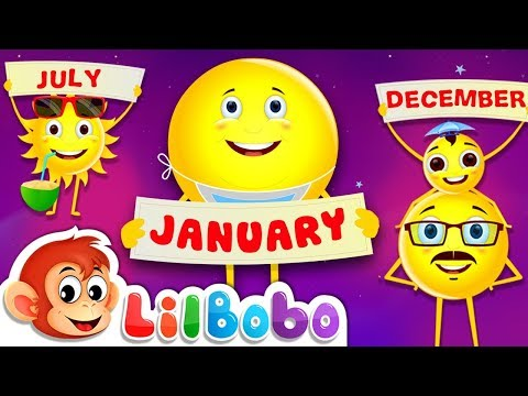 Months of the Year Song - Nursery Rhymes | January, February, March | Little Bobo Kids