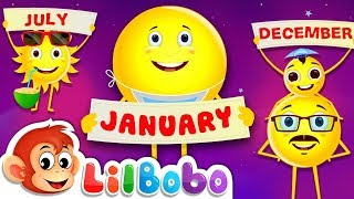 Months of the Year - Kids Songs | Train for children |  Little Bobo Nursery Rhymes - Emoji