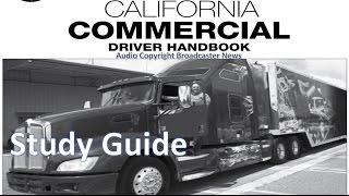 dmv cdl hand book audio calif 2017 study reference