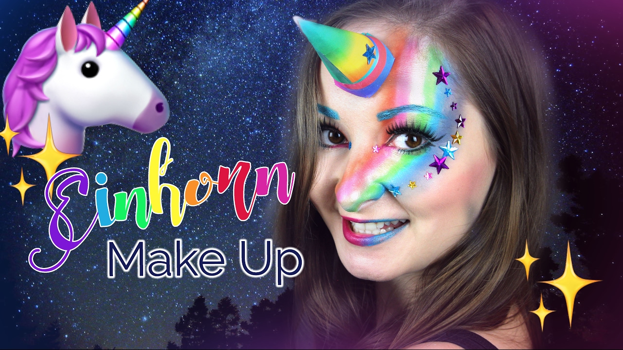 Diy Last Minute Einhorn Make Up Krishikarneval Youtube