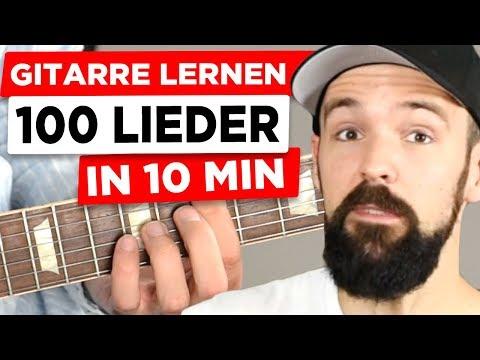 Gitarre lernen - 100 Lieder in 10 Min - für Anfänger & auf Deutsch