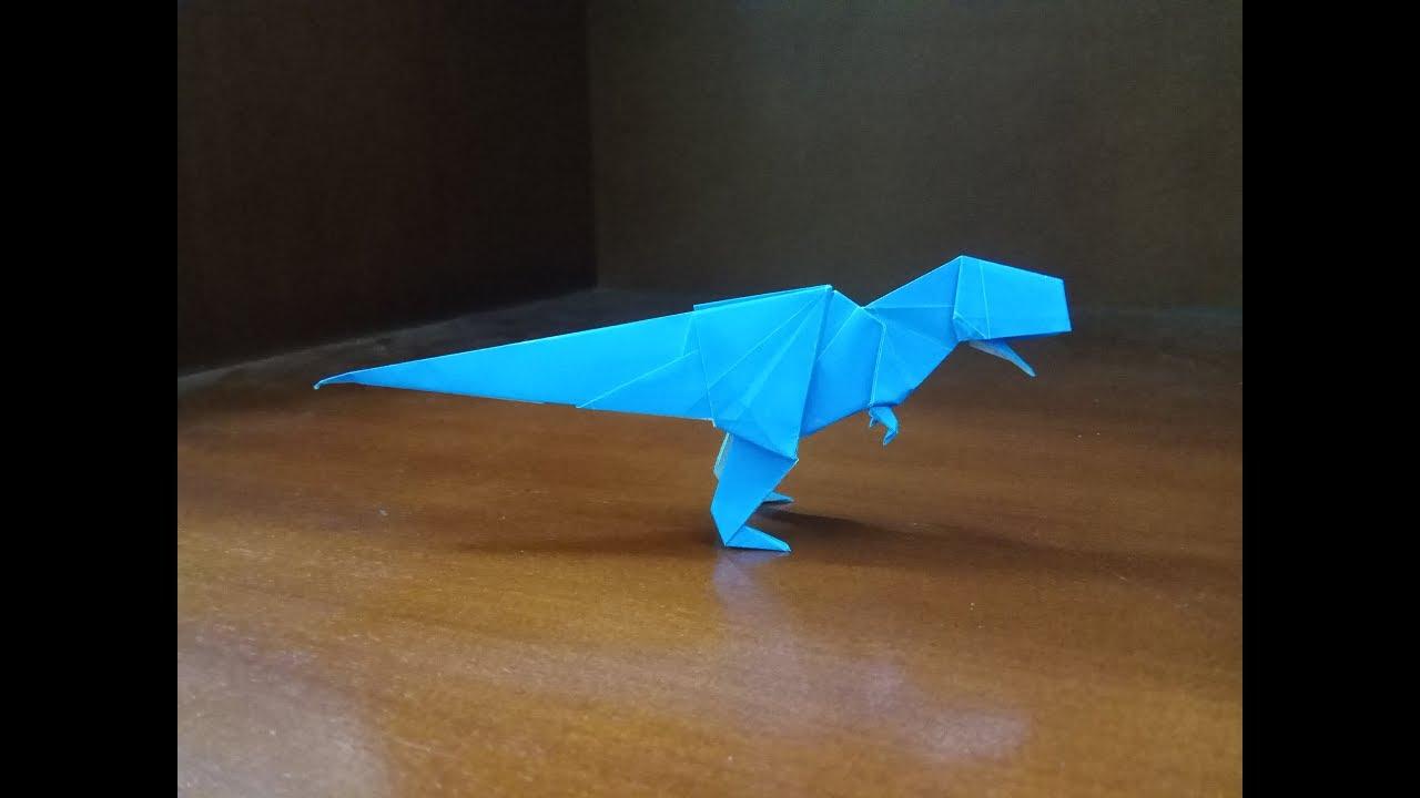Origami Dinosaur Stegosaurus - Paper Folding / Papier Falten ... | 720x1280