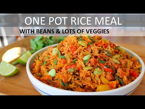 One Pot Vegetarian Meal | Vegan Rice Recipe | Plant Based Diet | How To Make Vegetable Rice