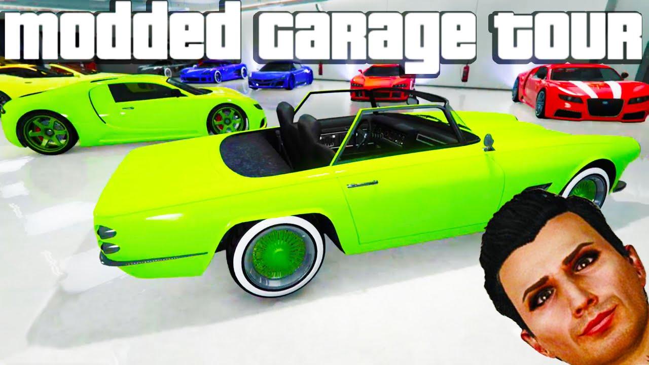 Gta 5 online garage tour 1 0 modded cars modded colors for Garage credit auto 0