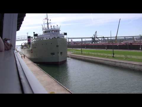 The American Spirit and the Alpena Locking thru the Soo Locks