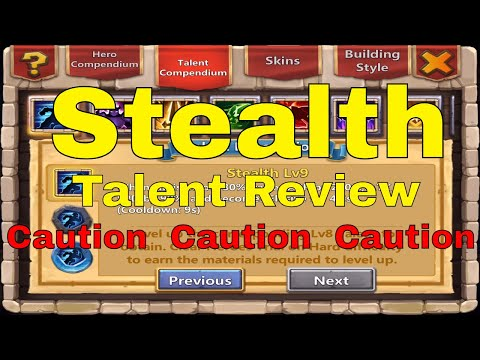 Castle Clash Stealth Talent Review