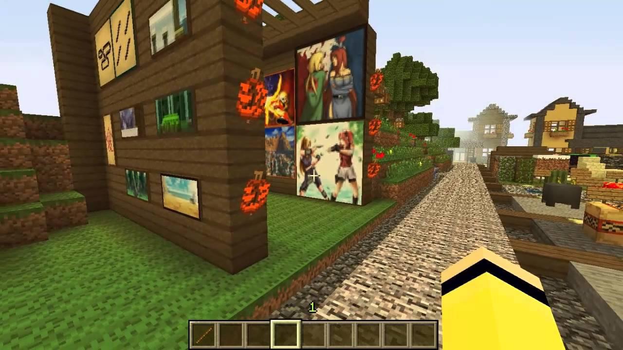 Minecraft 1.5 Naruto Texturepack Vorstellung HD - YouTube