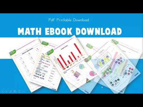 Math EBook For Kids With 100's Of Printable Worksheets + Answers