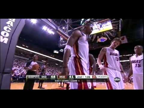 Chris Bosh injured in Game 1 against the Pacers