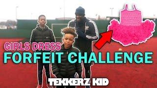 Forfeit Crossbar Challenge!! LOSER WEARS GIRLS DRESS!! | Tekkerz Kid