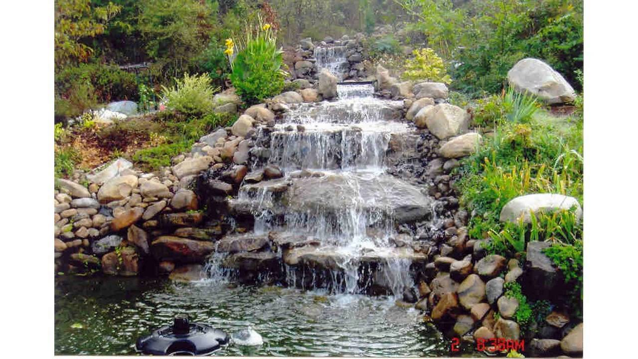 small garden ponds and waterfalls