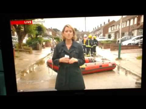 Floods In Romford..Wow!!..We Are On TV..Live