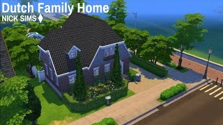 The Sims 4 Speed Build: Dutch Family Home   SimmerNick