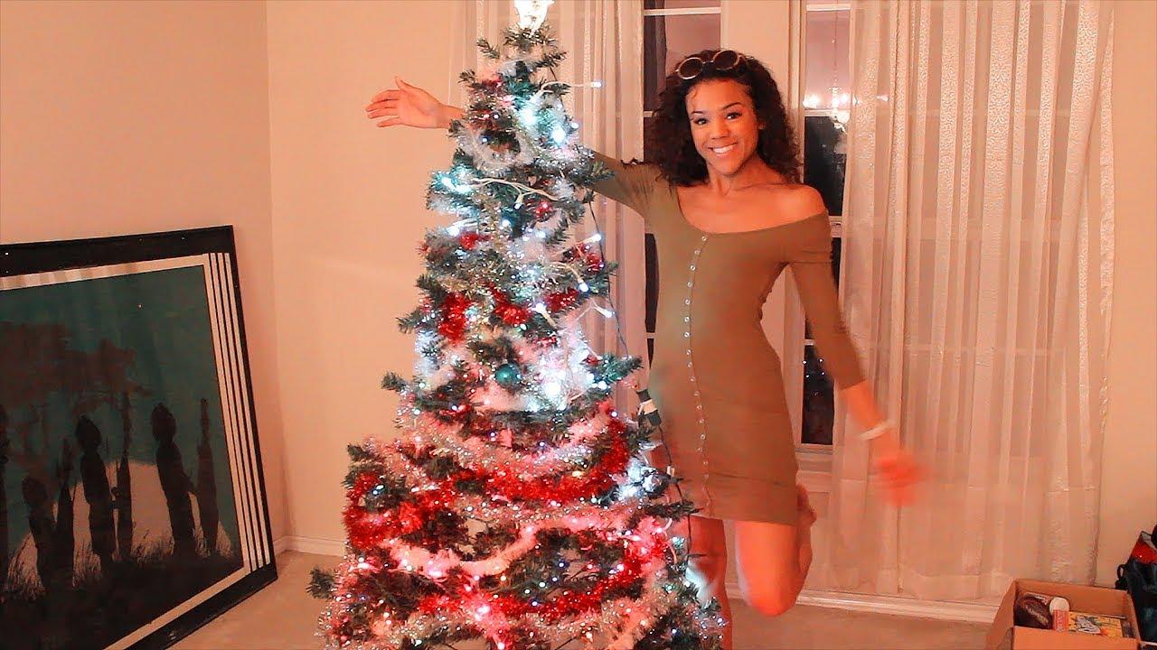 VLOGMAS: Decorating Ugly Christmas Tree FAIL!!! - YouTube