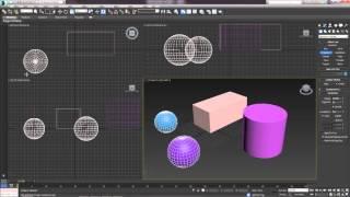 3D Max. Урок №8. Выравнивание и выделение объектов. Командная панель.