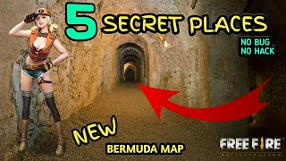 New 5 Places To Hide /  BERMUDA MAP Free Fire