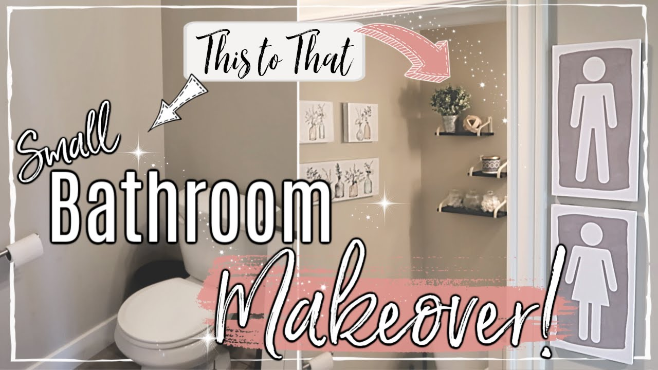 SMALL BATHROOM MAKEOVER ON A BUDGET :: DOLLAR TREE ...