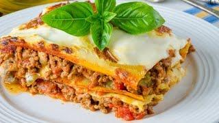 Лазанья рецепт - Lasagna recipe(Готовим дома итальянскую Лазанью со свиным фаршем и соусом Бешамель. Как правильно приготовить Лазанью..., 2016-03-24T21:49:46.000Z)