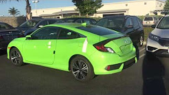 2016 Honda Civic EX-L 1.5T Coupe energy green pearl Color! Full review to come