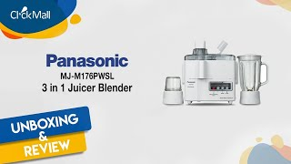 Panasonic Juicer 3 In 1 MJ-M176 PWTC Unboxing and Review