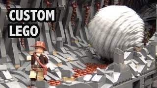 Awesome LEGO Indiana Jones Boulder Scene with 6 Motors!