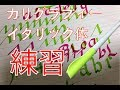 【カリグラフィー 】イタリック体の小文字をパラレルペン で練習