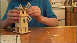 Sunnytech®solar Power Energy Diy Kits Brick Block Wood Windmill Child Educational 3d