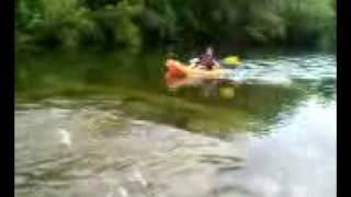 kayaker falls asleep while going over waterfall