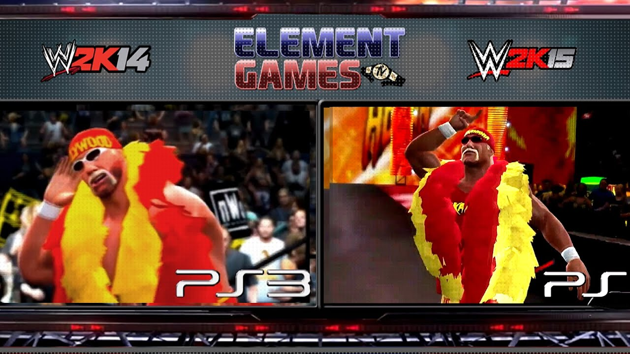 Wwe Hulk Hogan Wwe 2k15 Hulk Hogan Entrance 2k15 Vs 2k14 Comparison