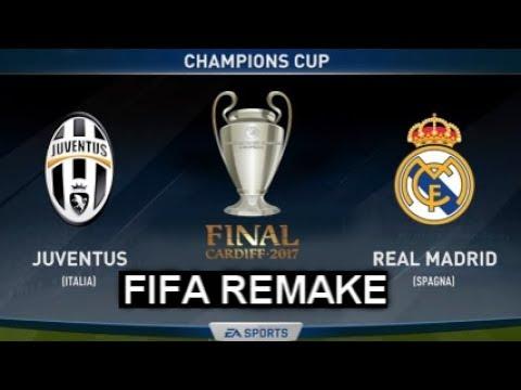 FIFA Remake Juventus Vs Real Madrid | Ronaldo, Mandzukic,Casemiro,Asensio Goals UCL Final 2017