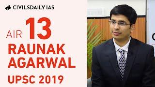 UPSC Topper - Raunak Agarwal, UPSC 2019, AIR 13 - Mock Interview with Civilsdaily